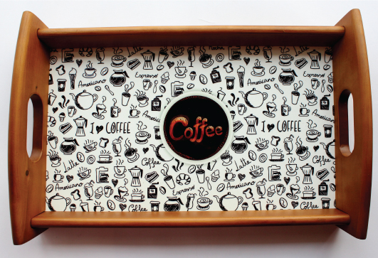 Coffee Doodle Tray