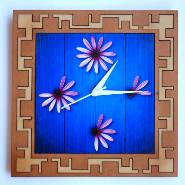 Four Flowers Wall Clock